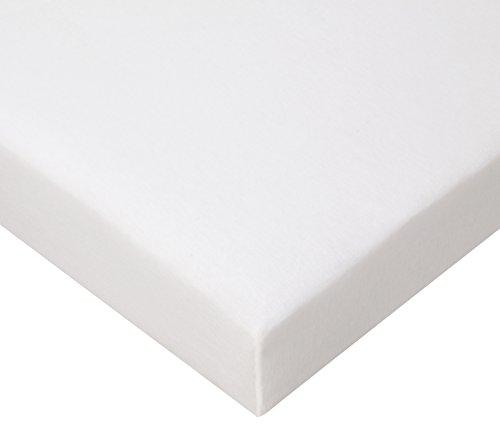 FabiMax Drap housse berceau en jersey éponge 90 x 50 cm Disponible en 4 coloris Jersey blanc