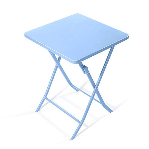 Klapptisch/kleinen quadratischen Tisch/Eisen Kunst Rost Klapptisch/Computer Schreibtisch/Home Dekoration Tisch / 55 * 55 * 71cm Tisch (Farbe: blau)