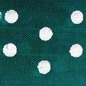 Club Lazos de Organza Verde con Lunares, Botella Verde, 33Piezas