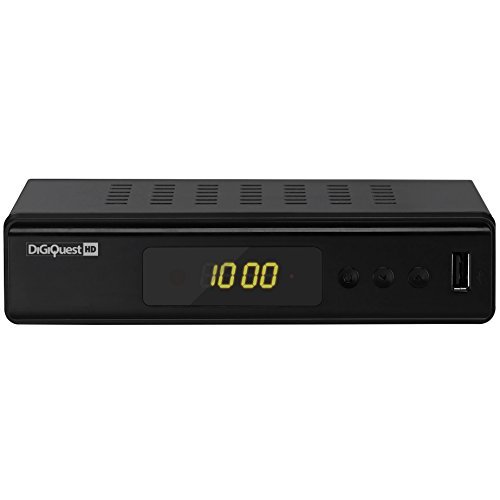 Digitaler Digiquest HDTV DVB-T/T2 H.265 Receiver DGQ (HDMI, SCART, Display, USB 2.0)