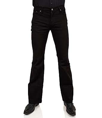 Schwarze Bootcut Slim fit Schlaghose Star Cut Black One  Amazon.de ... a8a2d9410c