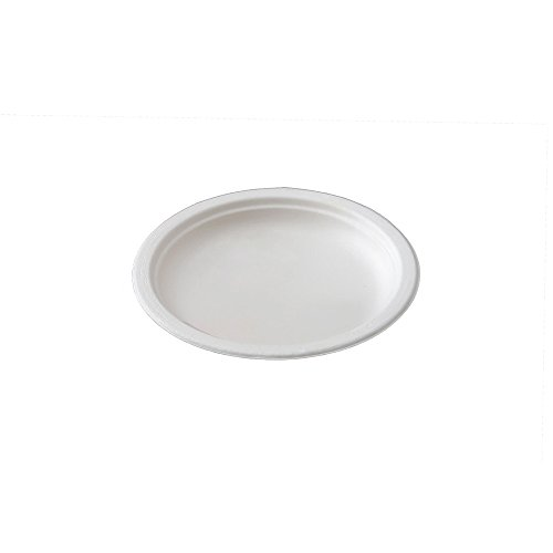 Piatti piani dessert monouso Ø 18 cm - 50pz - Biodegradabili e Compostabili