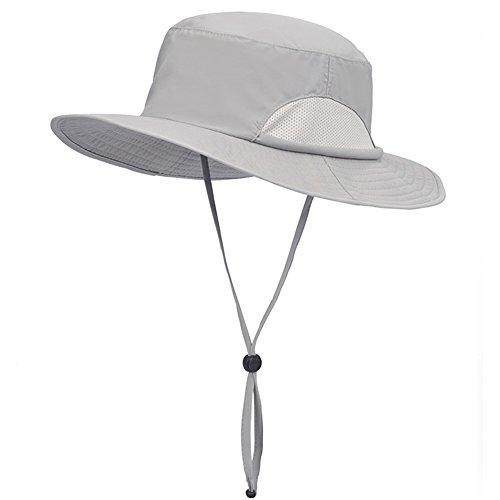 WYYY Chapeaux Hommes Visière Polyester Respirant Protection Contre Le Soleil Protection UV À L'extérieur 56-58cm ( Couleur : Gris clair )