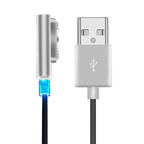 mondpalast MP power @ Silver Magnetic USB Charging Cable for Sony Xperia Z3, Sony Xperia Z3 Compact, Sony Xperia Z2, Sony Xperia Z1, Sony Xperia Z Ultra XL39h, Sony Xperia Z1 Mini