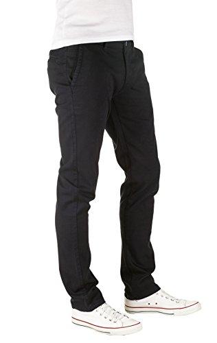 PITTMAN Herren Chino Hose Type - Slim Fit - Chinohose gemustert Blau (Dark Navy 194013)
