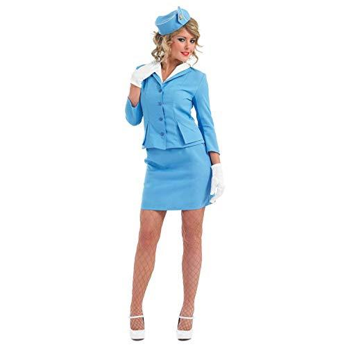 Fun Shack Damen Costume Kostüm, Cabin Crew Blue, XL