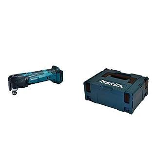 Makita Akku-Multifunktion Werkzeug (ohne Akku/Ladegerät, 390 W, 18 V) DTM51Z + Makita Makpac Set Größe 2, P-02375