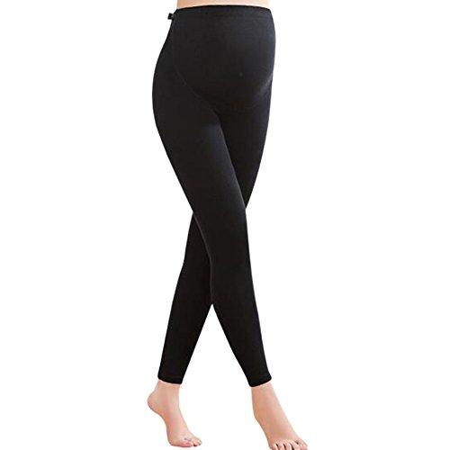 Deylaying premaman pantaloni di maternità donne vita alta regolabile del cotone di lunghezza caviglie leggings