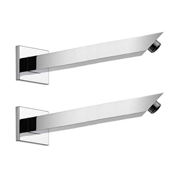 Drizzle 9 Inch Square Shower Arm/Bathroom Overhead Shower Arm/Rain Shower Rod - Set of 2