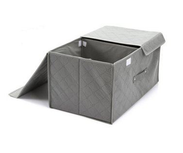 Styleys Charcoal Organizers Charcoal Divider Box Cell Foldable Storage Box type Non-Smell Drawer Organizer Closet Storage for Socks Bra Tie Scarfs Antibacterial Bamboo Charcoal Foldable Storage Box (Grey)