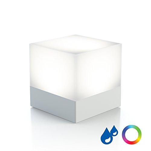 Duracell Licht (enevu CUBE Würfellicht weiß Taschenlampe & Farbwechsel Licht, Spritzwassergeschützt, mit 3xAAA Duracell Batterien)