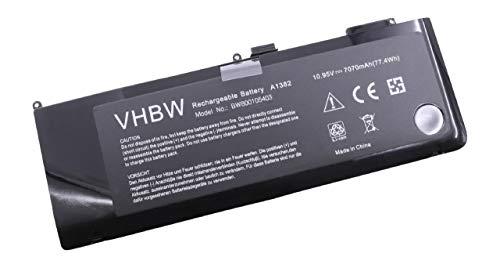 vhbw Li-Polymère Batterie 7070mAh (10.95V) Noir pour Ordinateur Portable Laptop Notebook Apple Macbook Pro 15\