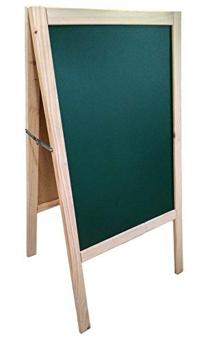 PIZARRA CABALLETE VERDE en PINO. 120x60cm Válido para rotulador de tiza líquida y tiza convencional. 2 CARAS (tablero verde)