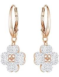 Swarovski Boucles d'oreilles Latisha, blanc, plaqué or rose