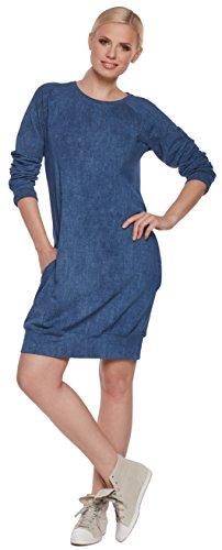 Purpless Maternity Robe tunique, robe d'allaitement, Be. Mama–2en 1. Modèle: sportissima, sélection couleur Bleu - Jeansblau