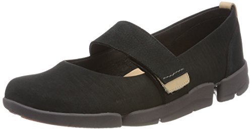 Clarks Tri Carrie, Zapatos Cordones Derby Mujer, Negro