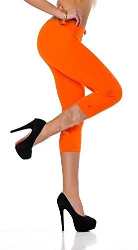 Dykmod Damen Leggins Leggings Capri 3/4 36 38 40 42 44 46 Orange