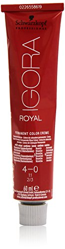 Schwarzkopf IGORA Royal Premium-Haarfarbe 4-0 mittelbraun, 1er Pack (1 x 60 g) - 4'0