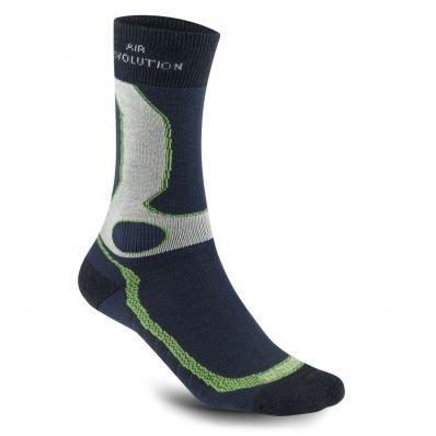 Meindl Damen Herren air Revolution Dry Outdoor & Funktions- Socken Marine/Mint, Größe:40-43 (M)