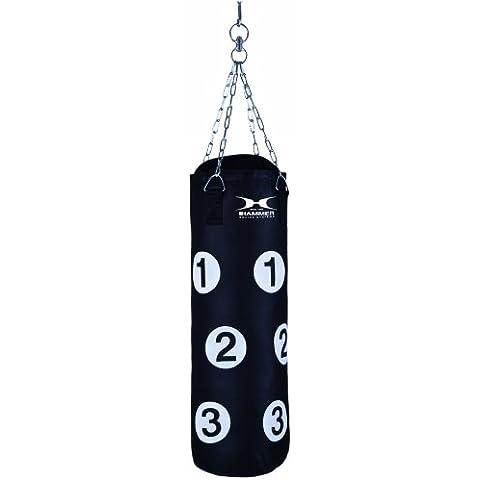 Hammer Home-Fit Sparring Partner - Saco de boxeo (28 x 80 cm), color negro