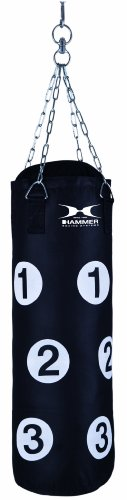 Hammer Boxsack Home-Fit Sparring Partner, schwarz, 28x80cm