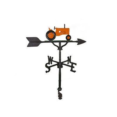 Montague Metall Produkte 32 Wetterfahne mit Orange Traktor Ornament von Montague Metall Produkte