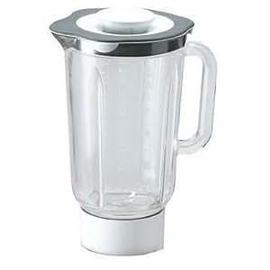 At338 - blender / mixeur complet blanc en verre 1,5l remplace par at358 thermoresist robot menager kenwood km300 chef