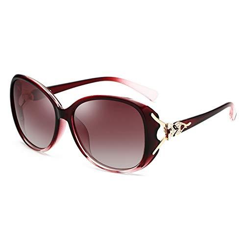 SUNNYJ Sonnenbrille Polarisierte Sonnenbrille Frau Diamond Fox Damen Sonnenbrille Retro Vintage Oval Famale Eyewear 35 C2