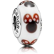 Qinger Disney Classic Minnie Murano Glass For Pandora Bracelet Beads 791634 by Qinger