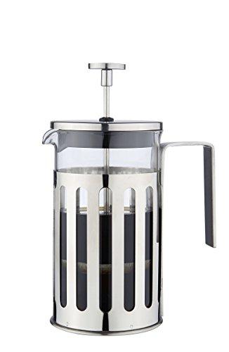 MW Creations French Presse Kaffee/Tee-Hersteller Hitzebeständigem, Cafetiere mit Chrome Rahmen Doppelfilter, 5 Tassen/ 600ml Edelstahl