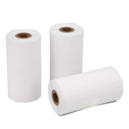 VBESTLIFE Thermopapier, 3 Rollen, 57 x 30 mm, wärmeempfindliches selbstklebendes Papier für die PAPERANG P1 P2-Thermodruckkamera.