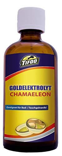 Goldelektrolyt Chamaeleon (100 ml) - Vergoldung, vergolden, Goldbad