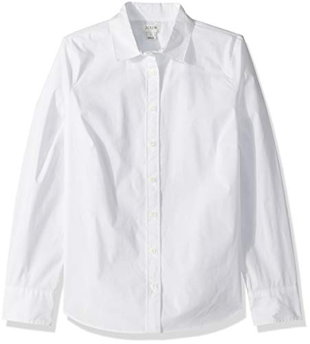 J.Crew Mercantile Damen Stretch Long-Sleeve Solid Shirt Button Down Hemd, weiß, X-Klein -