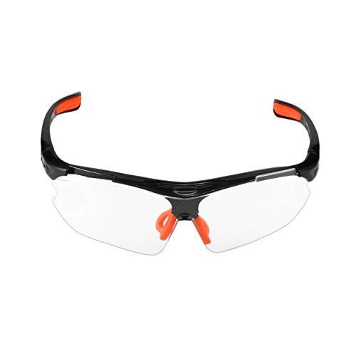 DEjasnyfall Fahrrad Radfahren Brille Winddicht Staubdicht Brillen Outdoor Sportbrillen Männer Und Frauen Mountainbike Schutzbrille (schwarzer Rahmen & klare Linse)
