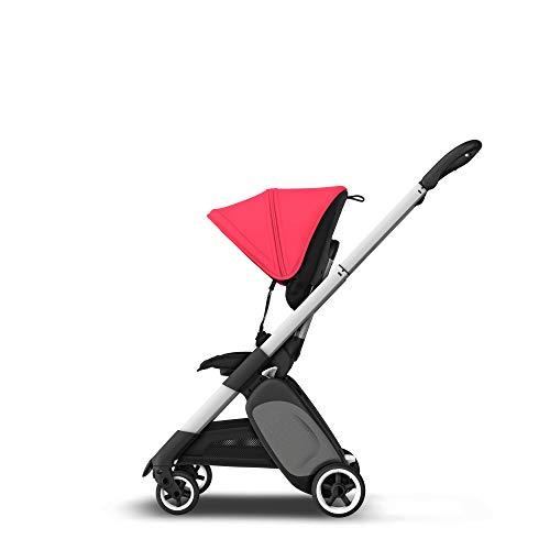 Bugaboo Ant, carrito ligero de viaje con plegado compacto, se convierte en un carrito, negro Rojo neón...