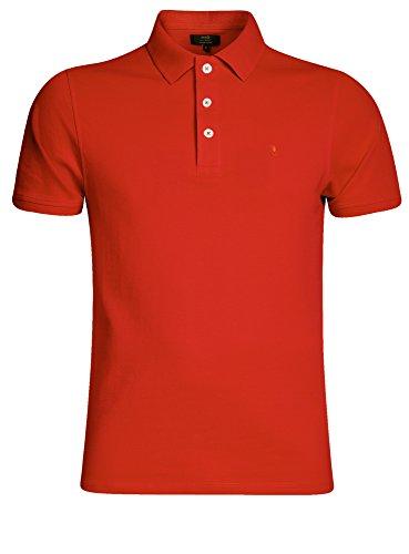 oodji Ultra Herren Pique-Poloshirt Basic Rot (4500N)