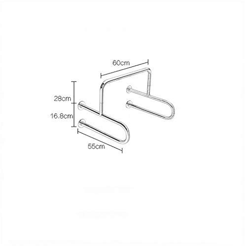 ZYFFS Griffstange Bad 304 Edelstahl barrierefrei ältere Urinal Handlauf Hilfsmittel für Bad (größe : Mirror Light) - Lite-urinal