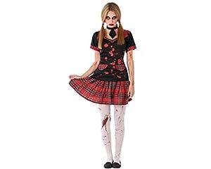 Atosa-61477 Atosa-61477-Disfraz Colegiala Sangrienta- ADOLESCENTE- Mujer- rojo, Color (61477)