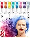 Hair Chalk Comb Gessetti per Capelli con Pettine integrato – Tintura Temporanea per tingere i capelli Set da 8 Pezzi in Colori Assortiti – Sicuri e Facili da Applicare