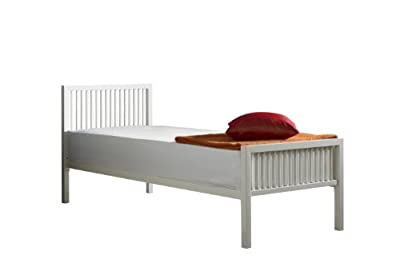 Boston small single metal bed frame 2ft6 Ivory White(off White)