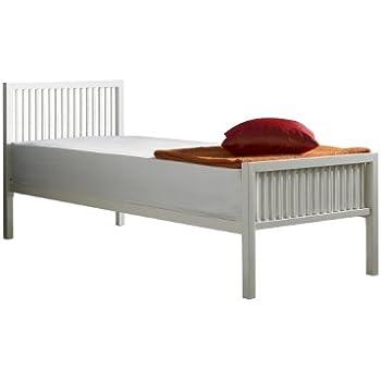 boston single bed frame 3ft ivory whiteoff white - Single Bed Frame