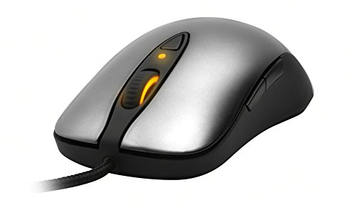 Steel Series Maus (SteelSeries Sensei Laser-Gaming-Maus (8 Taten, LED-Display) grau)