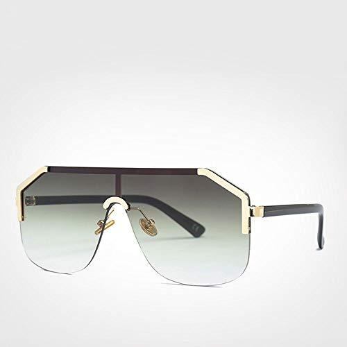 QZHE Sonnenbrillen Übergroße Randlose Sonnenbrille Herren Shield Sonnenbrillen Damen Uv400