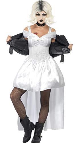 Kostüm Von Chucky Sexy Braut - Damen Sexy Braut Of Chucky 90s Film Halloween Kostüm Kleid Outfit UK 12-14