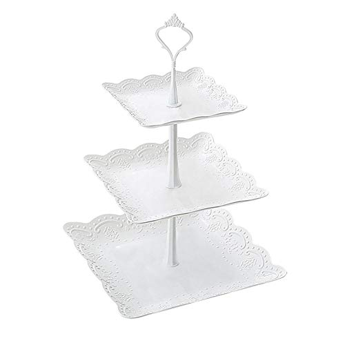 Winnerruby 3 Tier Cake Stand, Detachable Fruit Plate Cake Stand Dessert Vegetable Storage Rack