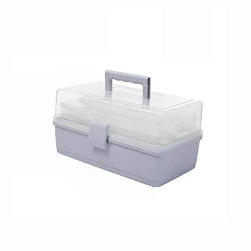 Zoavash Startseite Multi-Funktions-Medizin-Box Multi-Layer-Medikamenten-Aufbewahrungsbox Erste-Hilfe-Kit Multi-Color-Multiple-Größe Optional Hyococ (Color : Gray, Size : 26×18×14.5cm)