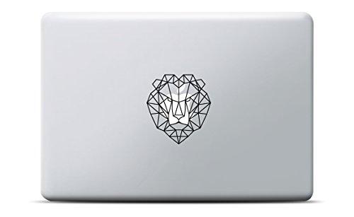 Löwe MacBook Sticker geometrisch / Lion Laptop Aufkleber, MacBook Pro, MacBook Air (Aus Decal Vinyl Kopf)