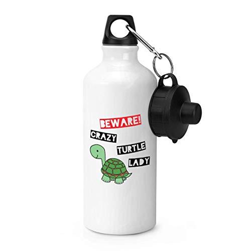 Gift Base Beware Verrückte Schildkröte Damen Sport Flasche
