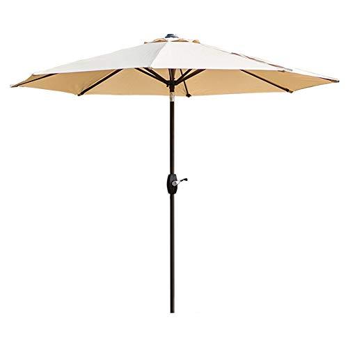 Sonnenschirme Gartenschirm 9ft Patio Table Umbrella Gartenschirm mit Neigung und Kurbel für Outdoor, kommerzieller Markt für Strandveranstaltungen, Camping, Schwimmbad (beige) (Ft Sonnenschirm 9)
