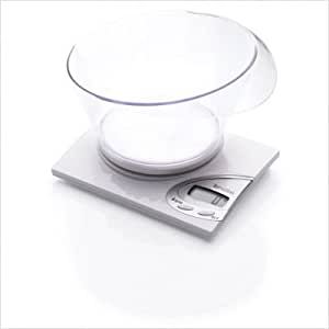 Terraillon RNIB Electronic Vocal Kitchen Scale with Transparent Bowl, White